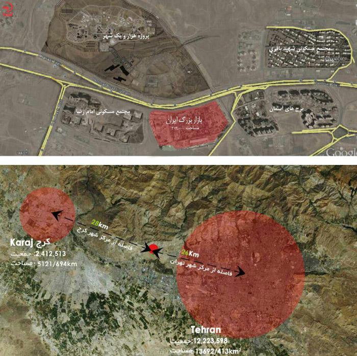 موقعیت جغرافیایی ایران مال