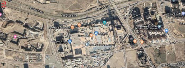 موقعیت مکانی ایران مال
