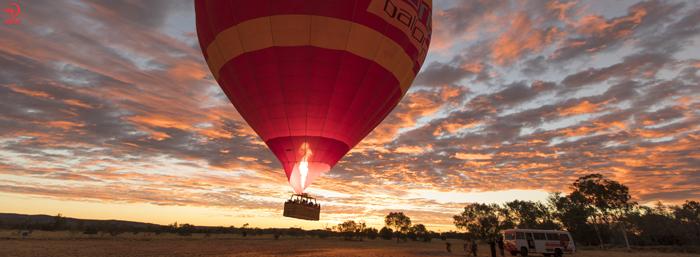 بالن سواری در رد سنتر، استرالیا