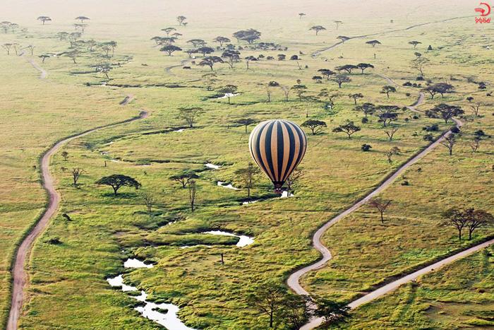 بالن سواری در ماسای مارا، کنیا