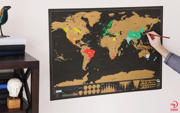 نقشه جهان خراشیدنی