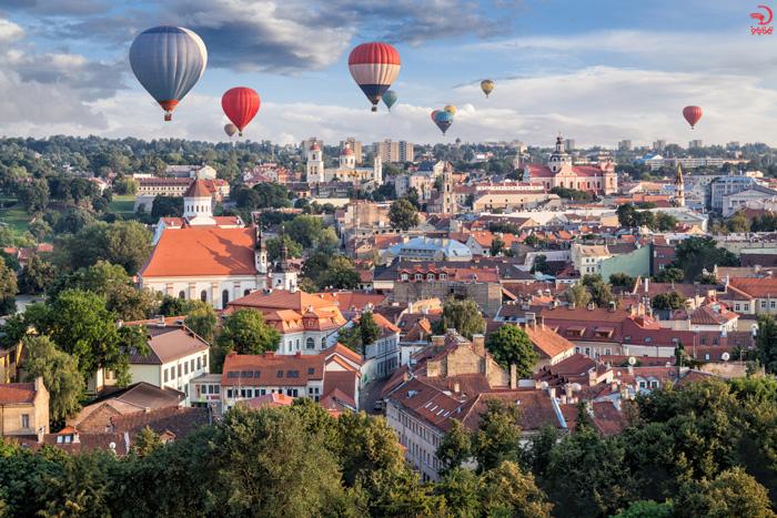 بالن سواری در ویلنیوس، لیتوانی