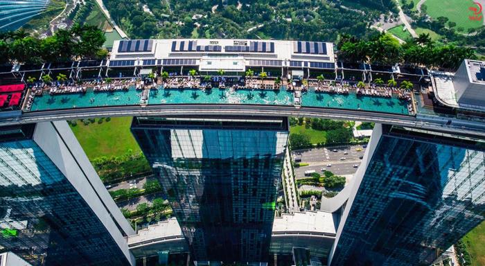 نمای بالای برج مارینا سنگاپور
