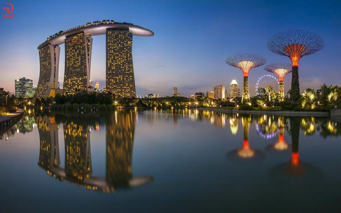 نمای زیبا از برج مارینا سنگاپور