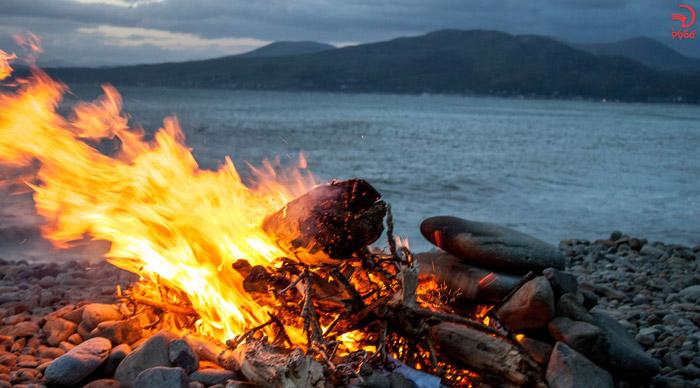 آتش از لوازم ضروری برای طبیعت گردی