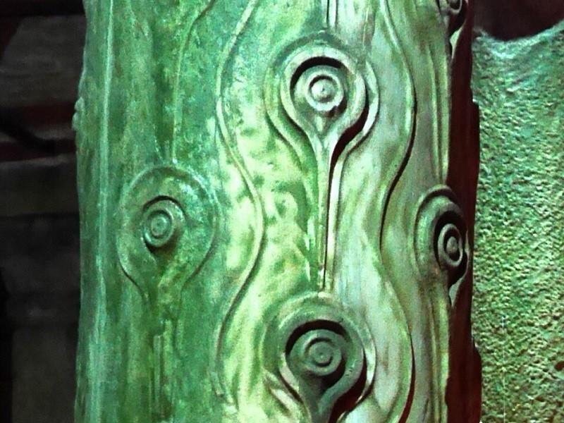 ستون چشم پرنده در آب انبار باسیلیکا