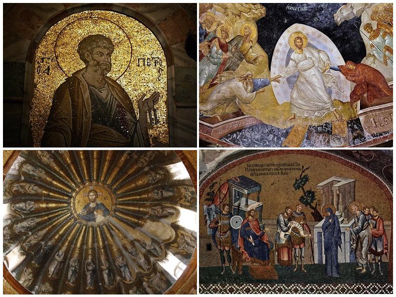 موزاییک های قابل توجه کلیسای چورا