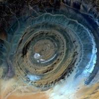 معمای چشم غول آبی صحرای ساهارا