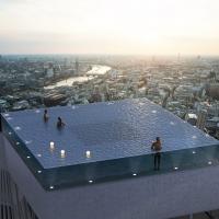 ساخت اولین استخر 360 درجه دنیا بر فراز هتلی در لندن