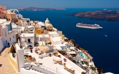 جزیره سانتورینی  در یونان