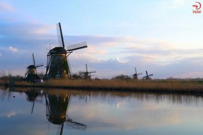 کیدردیک، دهکده آسیاب بادی های 300 ساله، هلند